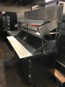 6ft salad prep table line fridge with stainless shelve all for only $1595 ! Shipping avaiable ( free shelve worth$900)