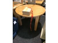 exDisplay round extend solid oak tables -£150 each