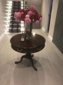 Mahogany entrance table - round