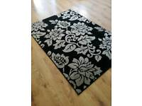 Black and grey rug