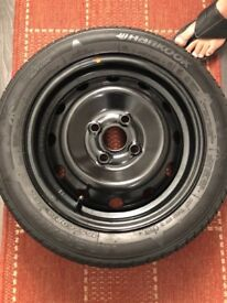 "14"" steel wheel with HANKOOK 165/60R14 75H Brand new unused wheel and 1month used tyre."