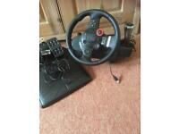 Driving Force Steering Wheel & Pedals