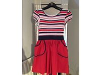 Blue zoo red stripped dress