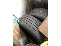 Two tyres from Vauxhall Astra SRI