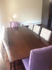 John Lewis solid dark oak dining table
