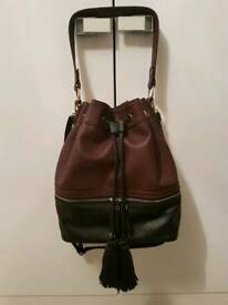 New Look Dark Plum & Black Handbag