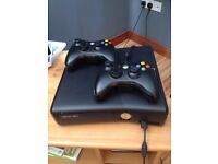 xbox 360 with 10 games and headset