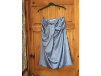 RIVER ISLAND silver/grey strapless dress size 10 £5.00 Wedding? Prom?