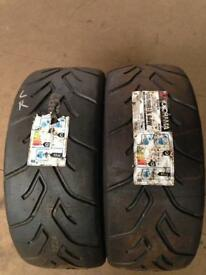 4x Yokohama A048 road legal semi slicks