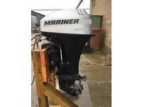 MARINER 25HP BIGFOOT 4 STROKE POWER TILT & TRIM 2002 MODEL + REMOTES LONG SHAFT