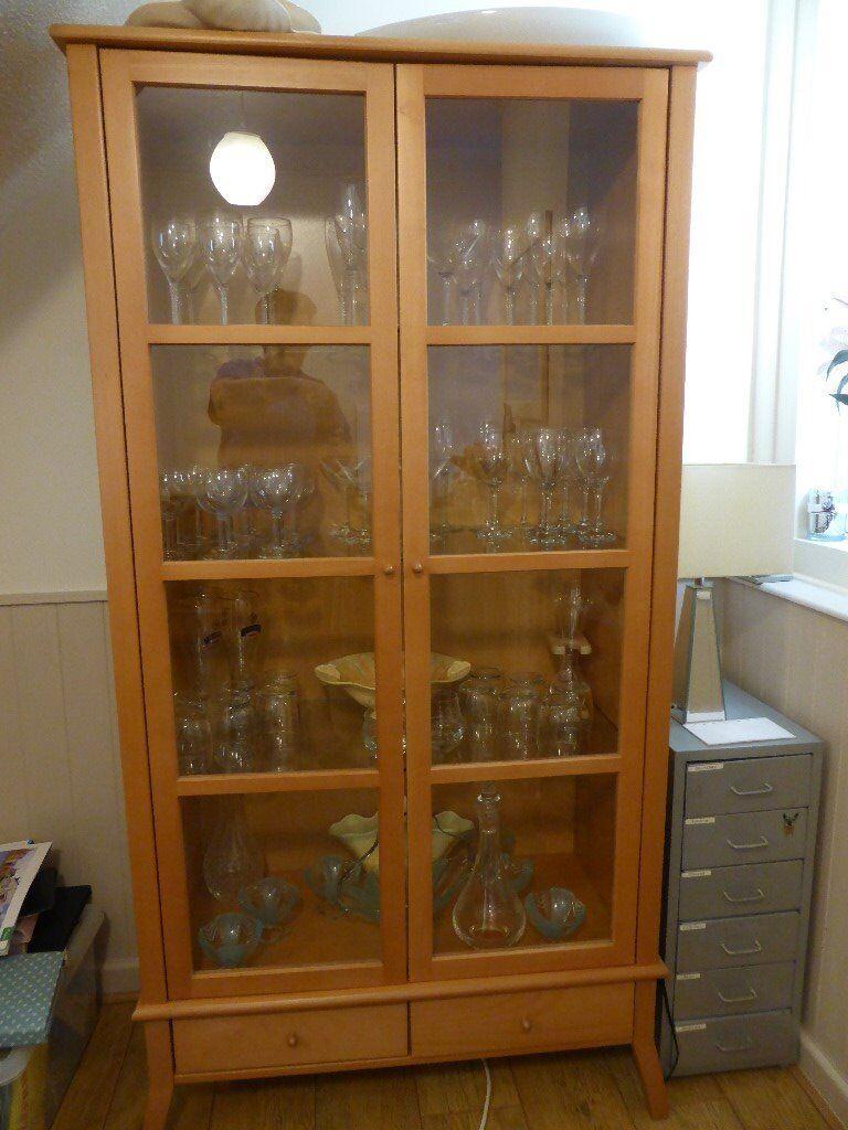 Ikea Kronvik Glass Display Cabinet In Andover Hampshire
