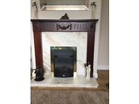 electric fire with full surround