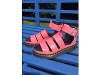 Genuine Dr. Martins Sandals Size 3 Pink