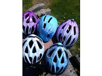Selection of kids bike helmets £5 each various sizes