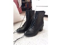 Brand new leather women's black boots UK size 5