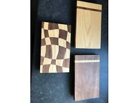 Handmade Wooden Cutting Boards (small) made from solid Walnut and Ash