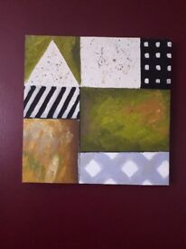2 x ABSTRACT CANVASES