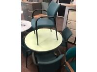 Lime Green Retro Round Table