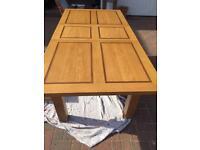 Solid oak dinning room table