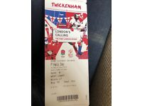 X3 London rugby 7s tickets final Sunday row 10!