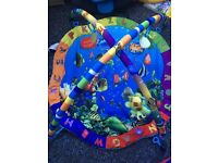 Blue play mat