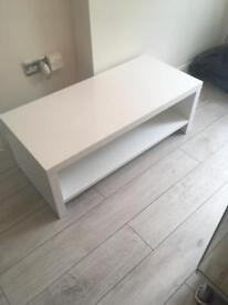 Brand new Gloss white coffee table/ tv unit