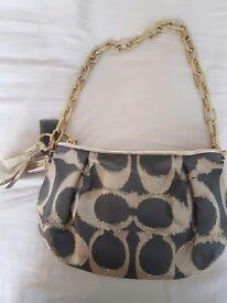 Coach poppy metal chain handbag