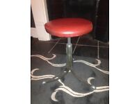 Original unrestored 1953 Leabank machinists stool, midcentury modern classic rarest