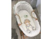 Mamas And Papas Moses basket with bedding set