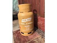 Empty flogas BBQ gas bottle