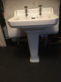 Traditional bathroom sink and taps