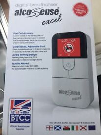 Alcsense excel breath tester. New and unused