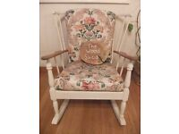 Lovely vintage elm rocking chair