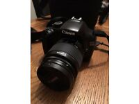 Canon EOS 1100D DSLR Camera (18mm-55mm lens) with extra Tamron Tele-Macro 70mm - 300mm lens
