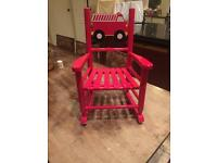 Little childs red rocking chair fire engine