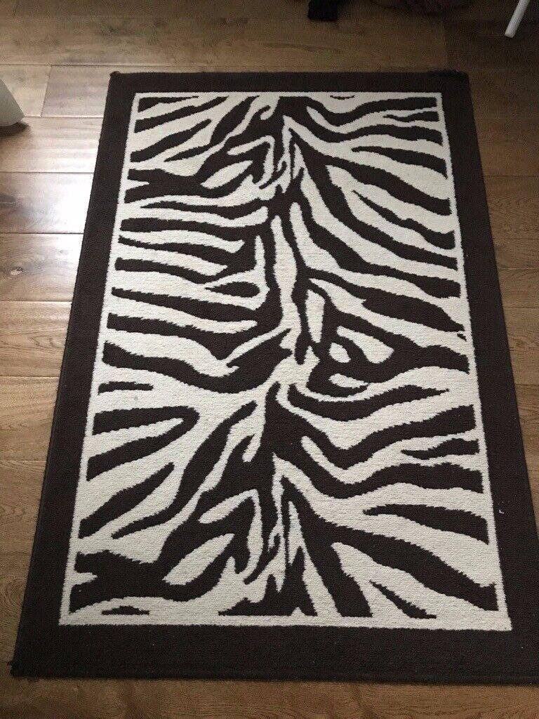 Brown And Cream Zebra Rugs 100x150cm