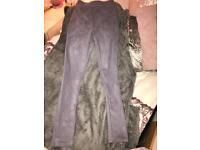 Velvet trousers, grey velvet