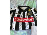 Signed autographed Notts county shirt