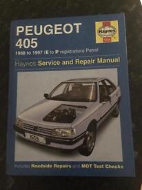 Haynes Manual Peugeot 405