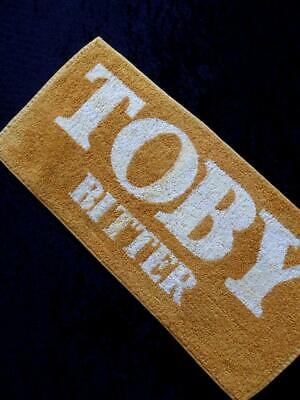 VINTAGE English Pub TOBY BITTER 1980s Bar Towel RUNNER MAT NO Stains FREE POST