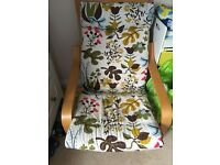 A very comfy IKEA chair and matching foot stool! Bargain.