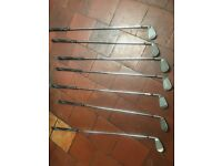 BARGAIN!!!! WILSON X31 GRAPHITE/STEEL COMPLETE SET WITH BAG £120 NEARLY NEW