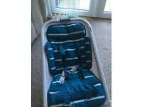 Bababing rockit turquoise striped baby bouncy chair