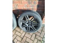 4x 18 inch black audi alloys wheels. Please Read The Description