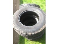 4x general grabber tyres and 1x cooper