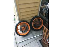 Honda Cbr 125 wheels with tyres and disks