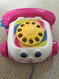 Fisher price girls pink telephone toy
