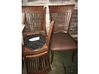 6 brown chairs