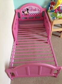 Minnie Mouse Toddler bed frame £5
