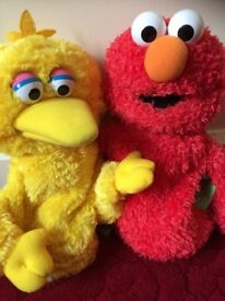 Seasame Street Big Bird and Elmo Hand Puppets